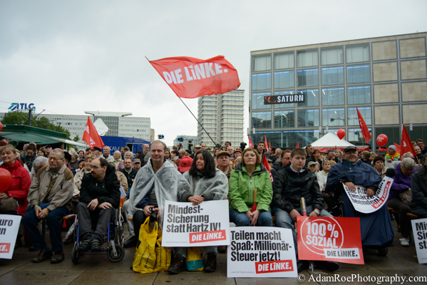 The Left Party rounds up the camaign season on September 20th in Alexanderplatz