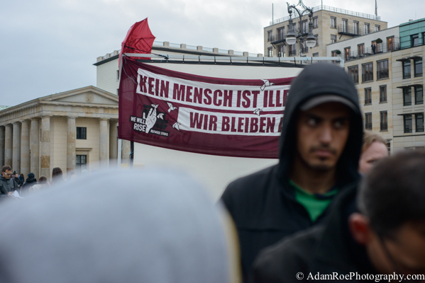 Refugee Hunger Strike at the Brandenburg Gate