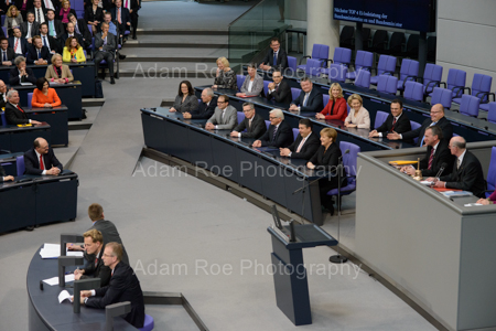 The cabinet's bench is filled with new ministers for the first time in the 18th parliament