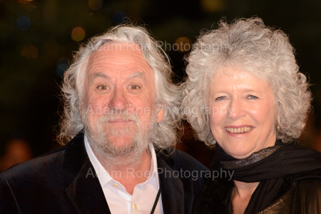 The Not Real Peter Jackson with his wife.