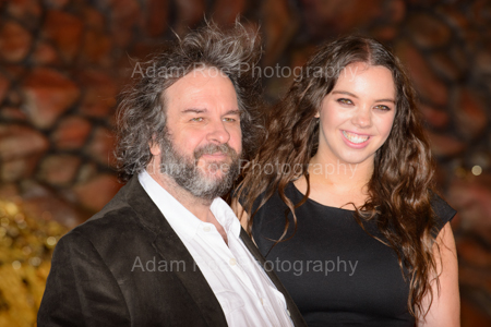 The Real Peter Jackson and his Real Daughter, Katie Jackson, and a gust of wind.