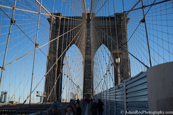 That classic shot of the Brooklyn Bridge.