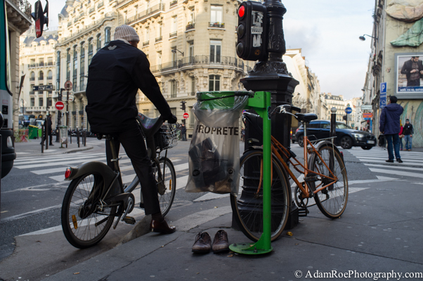 Bicycles and Shoes, Paris.