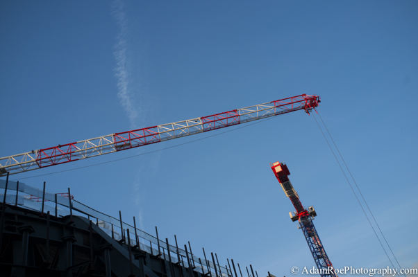 Construction cranes soar above Les Halles