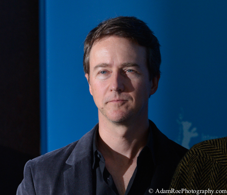 Edward Norton at the Photo Call for Grand Budapest Hotel. My flash did not fire but I caught someone else's hard light from the side. Intense.