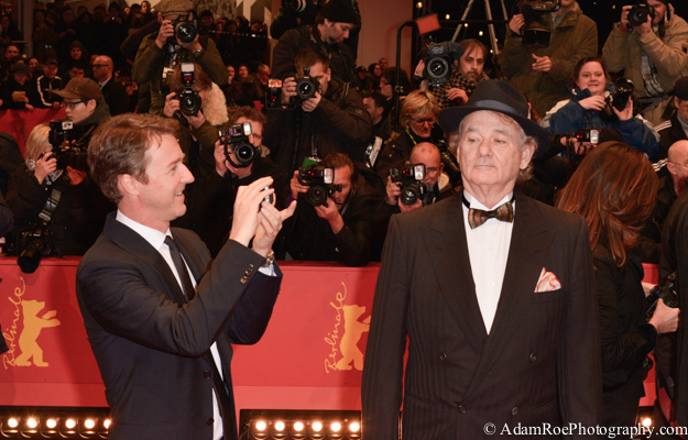 Edward Norton and BIll Murray were around for opening night, part of The Grand Budapest Hotel and the Monuments Men teams. They enjoyed the red carpet. Mr. Murray posed for us while Mr. Norton mocked us.