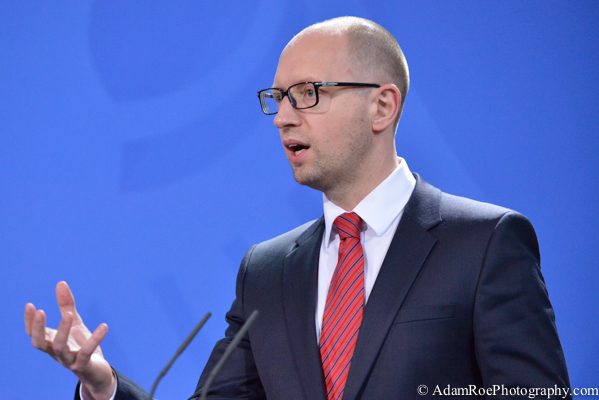 Arseniy Yatsenyuk in profile.
