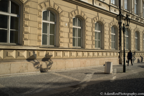 A game of Light and Shadows on Prague's streets.