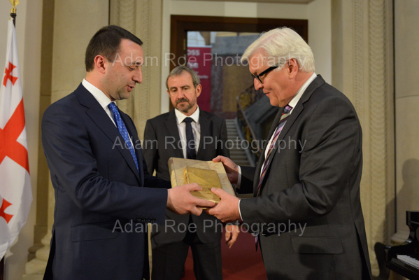 Irakli Garibashvili gives back recently surfaced books of German origin to the German Foregin Minister Frank-Walter Steinmeier.