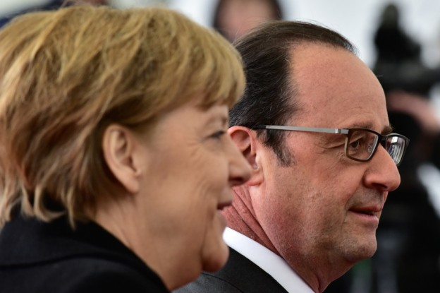 Angela Merkel and Francois Hollande.