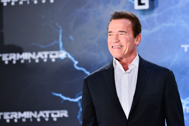 Arnold smiling big in Berlin.